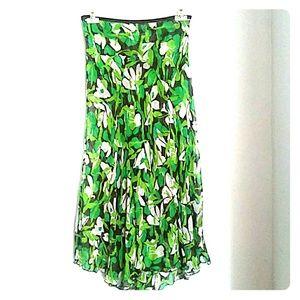 Diane Von Furstenberg Silk Floral dress Skirt